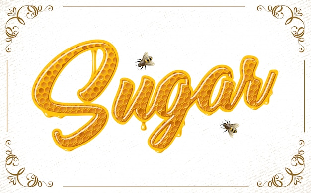 Scritte con patten a nido d'ape