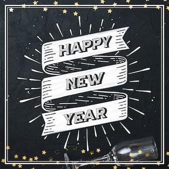 Scritte d'epoca felice anno nuovo 2020