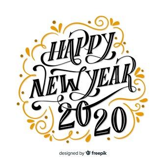 Scritte d'epoca felice anno nuovo