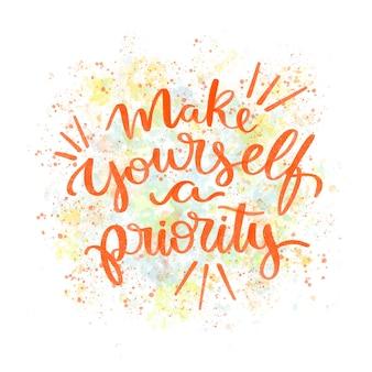 Scritte di amore per se stessi con citazione motivazionale