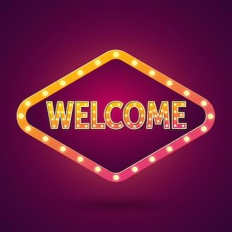 Scritte di benvenuto