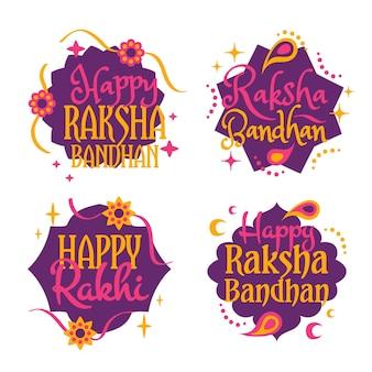 Scritte distintivi di raksha bandhan