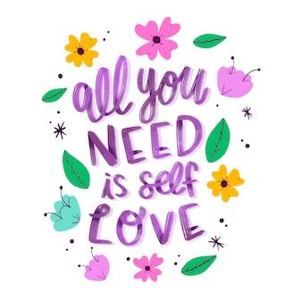 Scritte fiori amore per se stessi