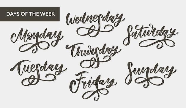 Scritte nei giorni della settimana