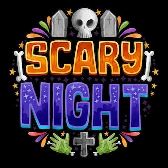 Scritte notturne spaventose