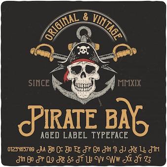 Scritte vintage ba dei pirati