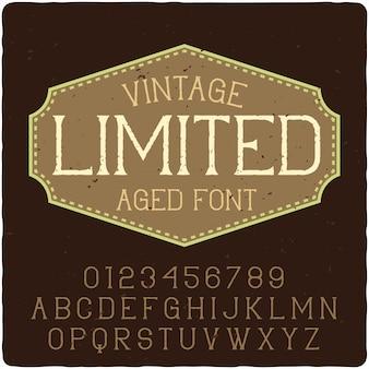 Scritte vintage limitate
