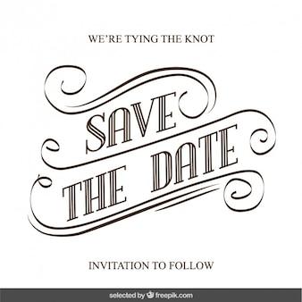 Scritto a mano invito a nozze