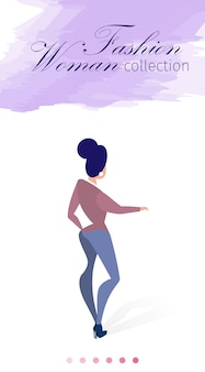 Scritto su banner lilac fashion woman collection.
