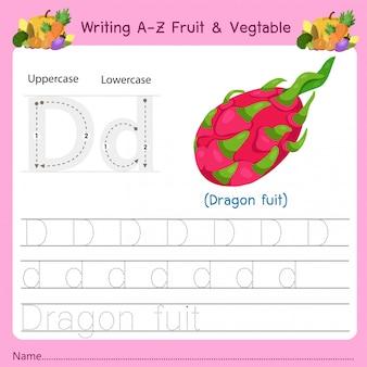 Scrittura az frutta e verdura d