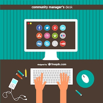 Scrivania di community manager