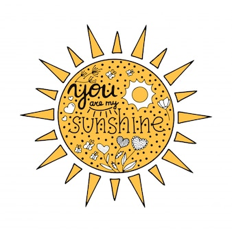 Scrivendoti sei il mio raggio di sole