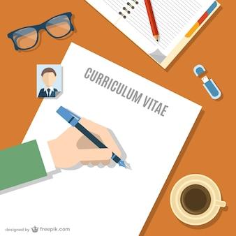 Scrivere il curriculum vitae vettore