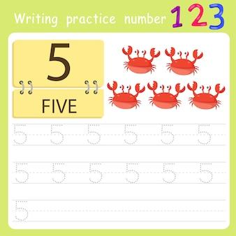 Scrivere pratica numero cinque