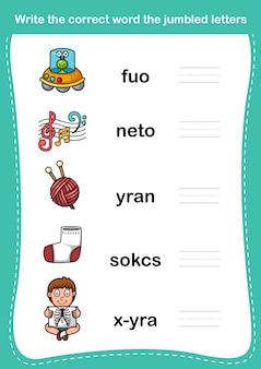 Scrivi la parola corretta le lettere confuse