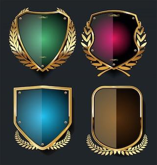 Scudo d'oro e nero con allori d'oro