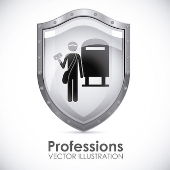 Scudo di professioni postino