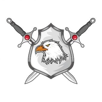 Scudo e spada con aquila