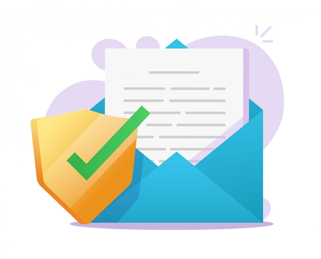 Scudo sicuro per documenti e-mail