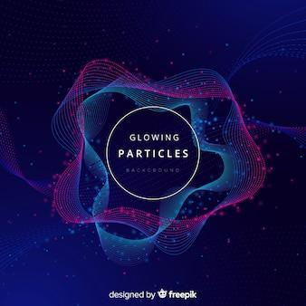 Scuro incandescente sfondo di particelle