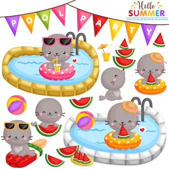 Seal watermelon party