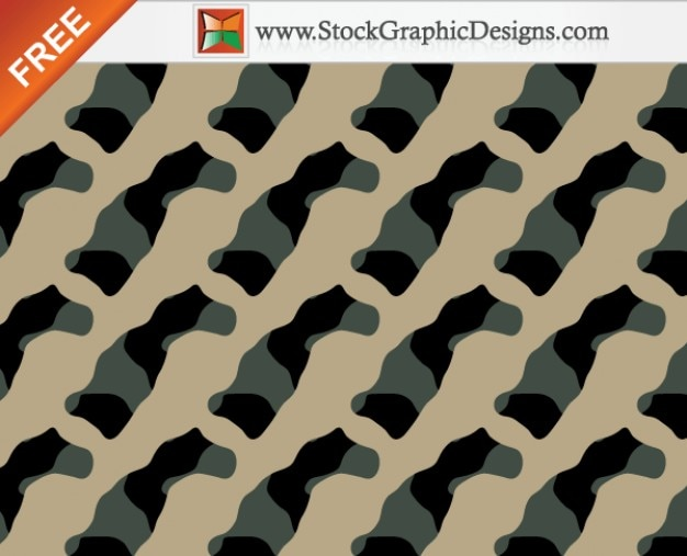 Seamless camouflage free vector - 3 colori