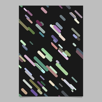 Seamless geometrico caotico arrotondato diagonale striscia modello di sfondo modello di pagina - vector stationery sfondo grafica di progettazione