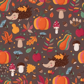 Seamless pattern d'autunno