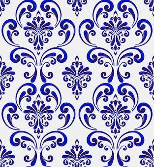 Seamless pattern damascato
