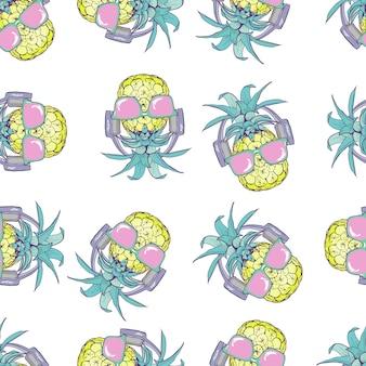 Seamless pattern di ananas
