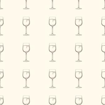 Seamless pattern di bicchieri di vino
