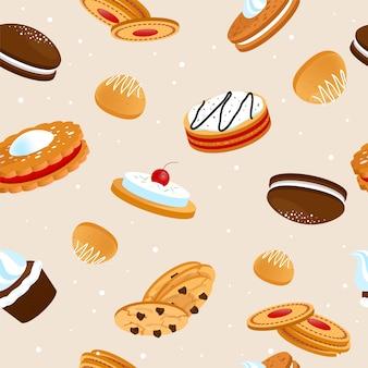 Seamless pattern di biscotti