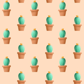 Seamless pattern di cactus.