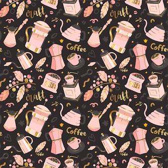 Seamless pattern di caffè