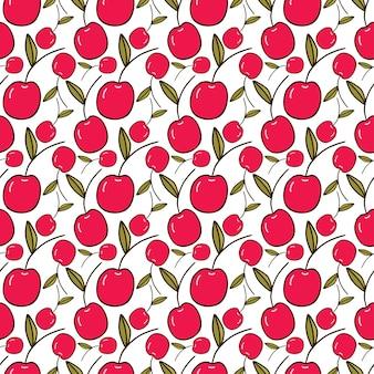 Seamless pattern di ciliegie.