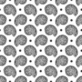 Seamless pattern di conchiglie. nautico