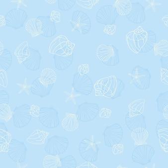 Seamless pattern di conchiglie.