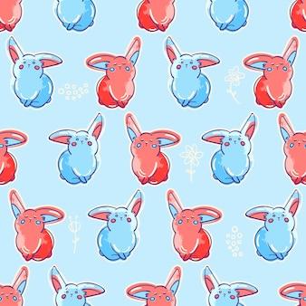 Seamless pattern di coniglietti