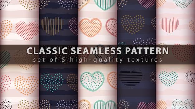Seamless pattern di cuore
