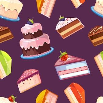 Seamless pattern di dolci