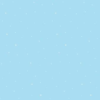 Seamless pattern di fiocchi di neve bianchi su sfondo blu