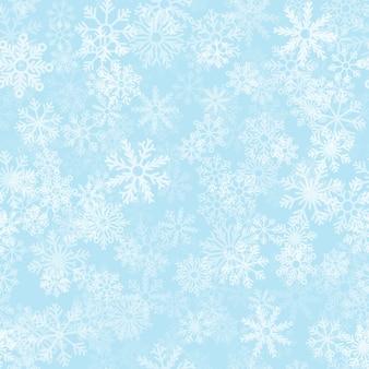 Seamless pattern di fiocchi di neve di natale
