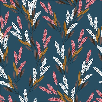 Seamless pattern di fiori di prato design di stile moderno per la moda, tessuto, stampe, carta da parati e tutte le stampe