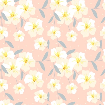 Seamless pattern di fiori dolci