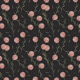 Seamless pattern di fiori selvatici.