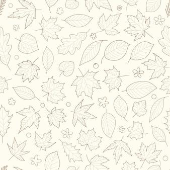 Seamless pattern di foglie d'autunno