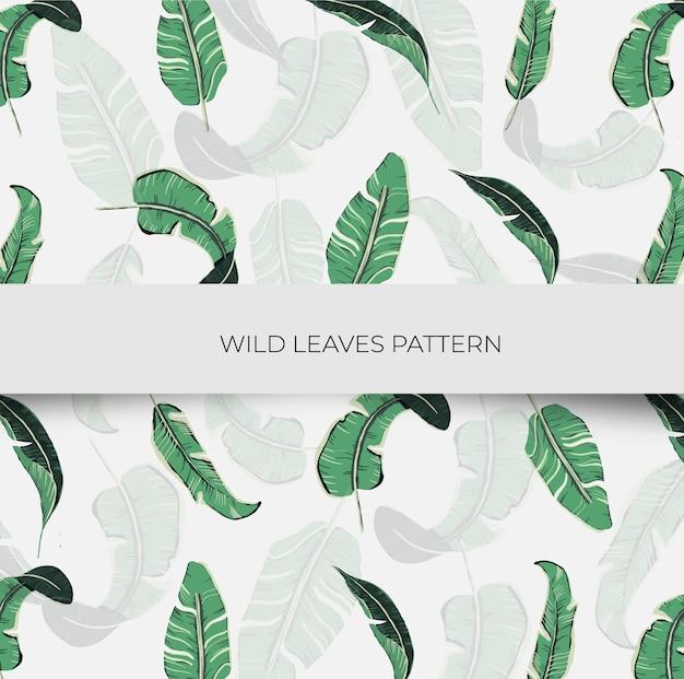 Seamless pattern di foglie selvatiche