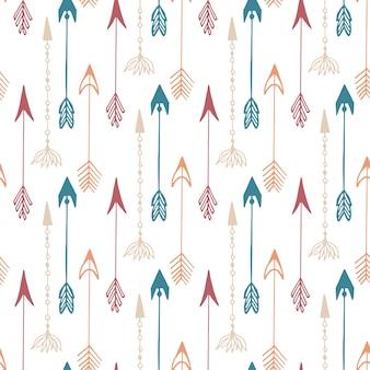 Seamless pattern di freccia d'epoca