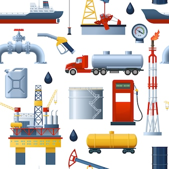 Seamless pattern di industria petrolifera