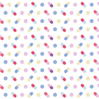 Seamless pattern di medicina colorata.